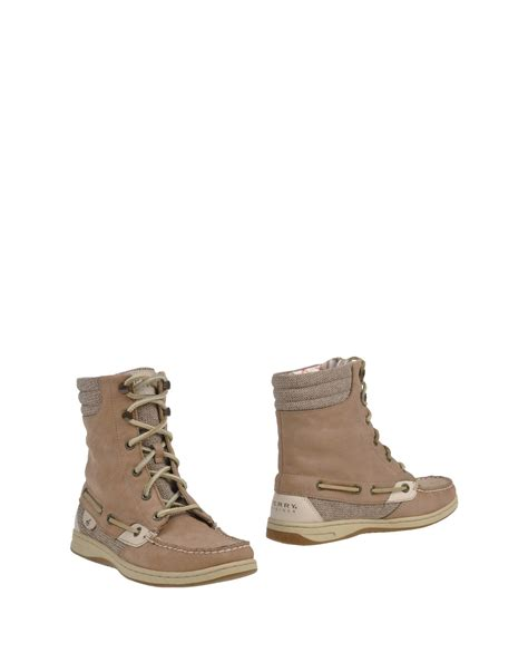 sperry top sider boots sperry top sider ankle boots in lyst