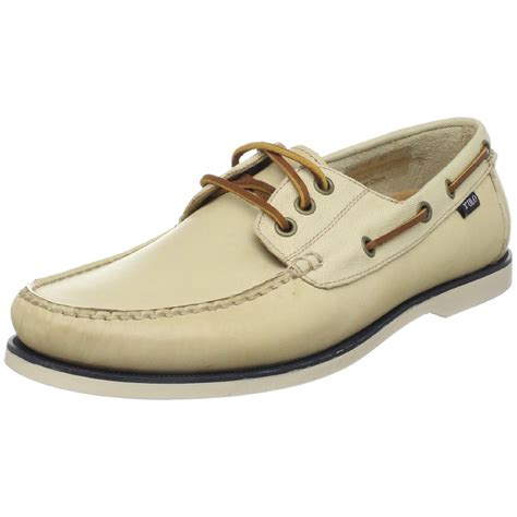 polo ralph mens bienne boat shoe in khaki for