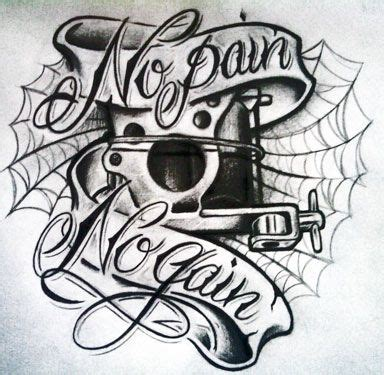 no pain no gain tattoo no no gain by willem no no gain machine