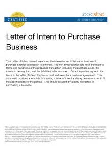 Letter Of Intent For Business Purchase Letter Of Intent To Purchase Business Best Letter Sle Free