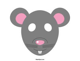 free printable rat mask template rat mask templates including a coloring page version of
