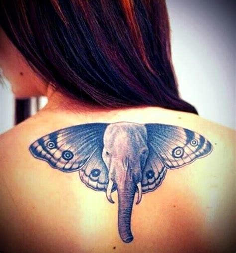 butterfly elephant tattoo elephant tattoo with butterfly wings ink pinterest