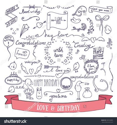 sign and doodle wedding invitation and birthday card doodle signs and