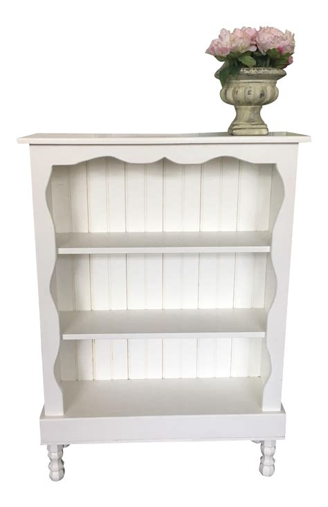 Shabby Chic White Bookcase Chairish Shabby Chic White Bookcase