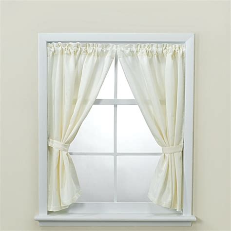 picture window curtains buy westerly bathroom window curtain pair with tiebacks and hooks from bed bath beyond