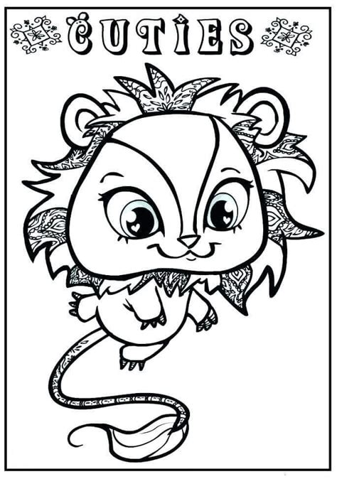 littlest pet shop coloring pages free printable littlest pet shop coloring pages lps