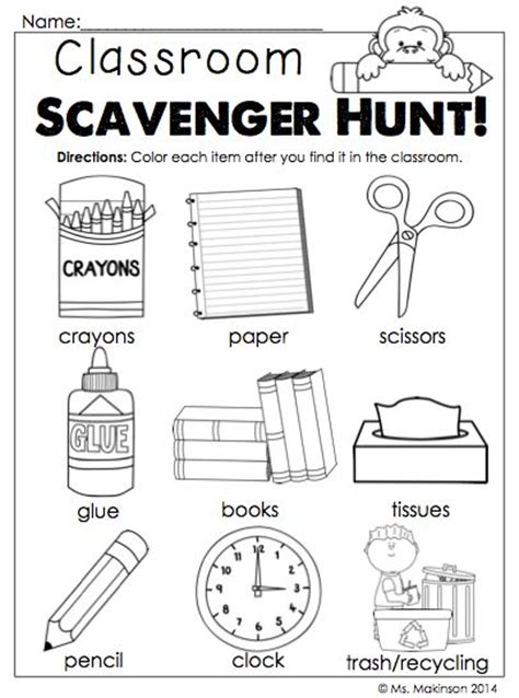 printable student activity sheets 17 best images about kindergarten back to school on