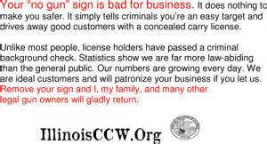 how to carry business cards illinois ccw no guns no business cards distribute as needed illinois concealed carry