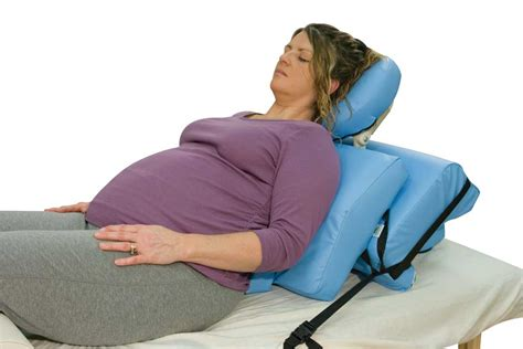 semi reclined position oakworks offers breakthrough prenatal massage bolster set
