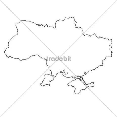 Ukraine Outline Map by Outline Map Of The Ukraine Places