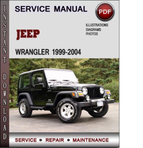 service and repair manuals 2004 jeep wrangler engine control jeep wrangler 1999 2004 factory service repair manual download pdf