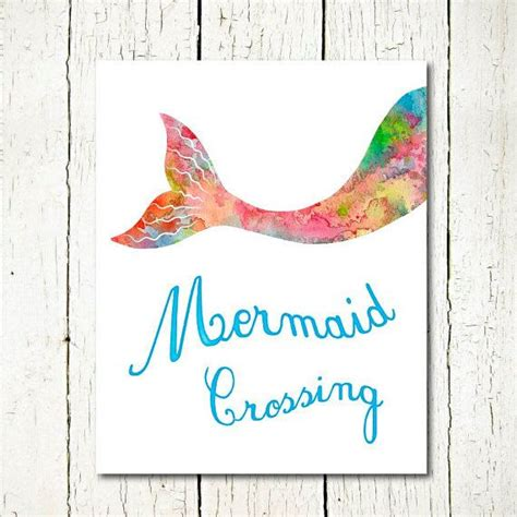 free printable mermaid wall art watercolor mermaid printable mermaid tail download ocean