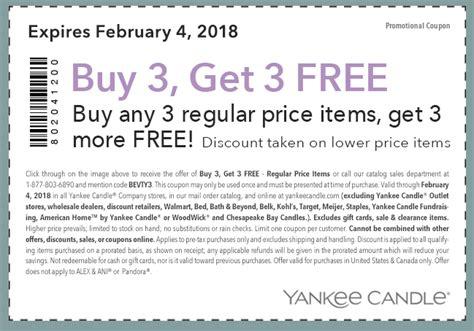 printable bogo yankee candle coupons buy three get three free yankee candle coupon passionate