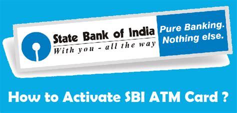 how to activate sbi atm card online offline