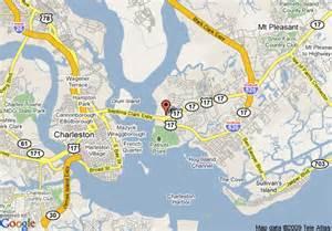 mount pleasant map map of hton inn and suites charleston mt pleasant isle