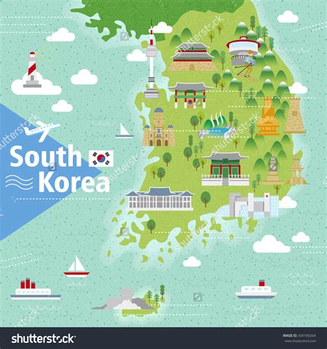 seoul map tourist attractions adorable south korea travel map with colorful attractions