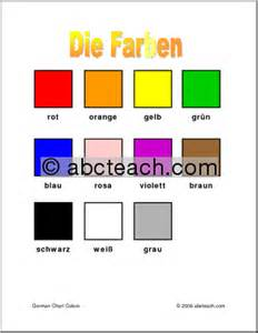 german colors german chart colors abcteach