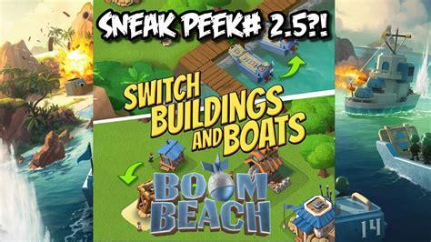 boom beach boat boom beach update switch buildings and boats sneak