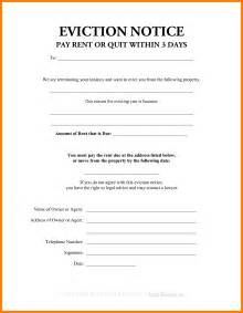10 3 day eviction notice form aplication format