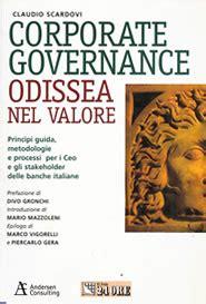 corporate governance banche corporate governance odissea nel valore fondazione