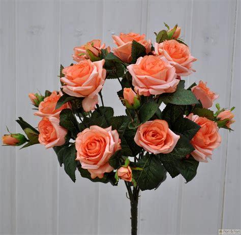 rosa fiori bouquet di fiori artificiali rosa tea salmone fiori fiori