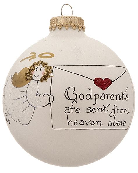 godparents christmas ornament family