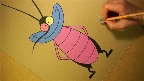 Oggy And The Cockroaches Drawing