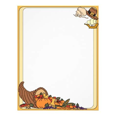 thanksgiving letterhead zazzle