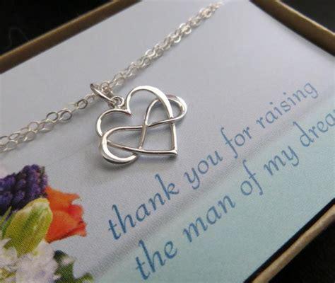 Groom Gift Card - mother of the groom jewelry infinity heart bracelet interlocking infinity bracelet