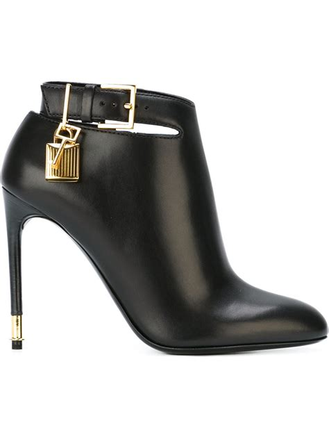 tom ford boots tom ford padlock charm stiletto boots in black lyst