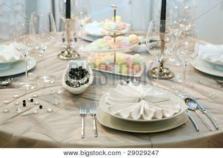 wedding dinner table setting table setting for wedding dinner stock photo
