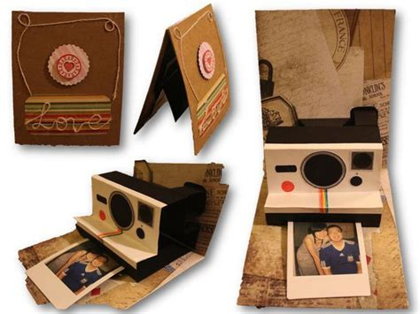 polaroid pop up card template polaroid pop up card craft by yaffil