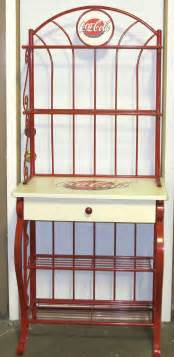 Coca Cola Bakers Rack Coca Cola Deluxe Baker S Rack With Built In Drawer Gently