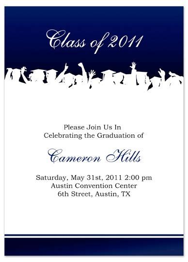 name card templates for graduation announcements free graduation invitation templates for word template ideas