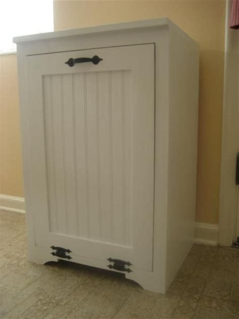 tilt out wood trash can cabinet do it yourself home