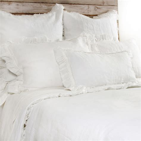 Pom Pom Duvet Pom Pom At Home Mathilde Cream Duvet Cover Modern