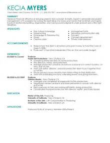 Resume Samples By Industry by Media Amp Entertainment Resume Examples Media