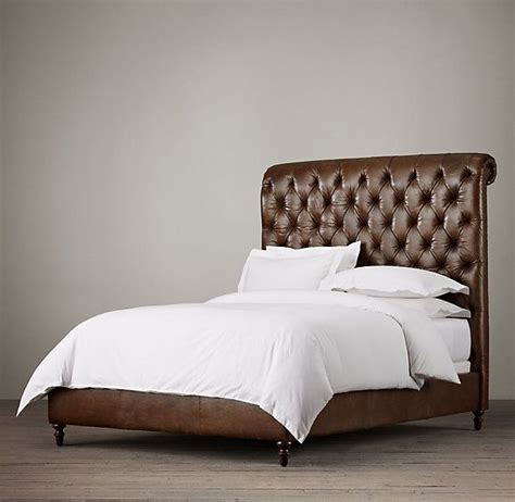 Sleigh Bed No Footboard by Chesterfield Leather Sleigh Bed Without Footboard