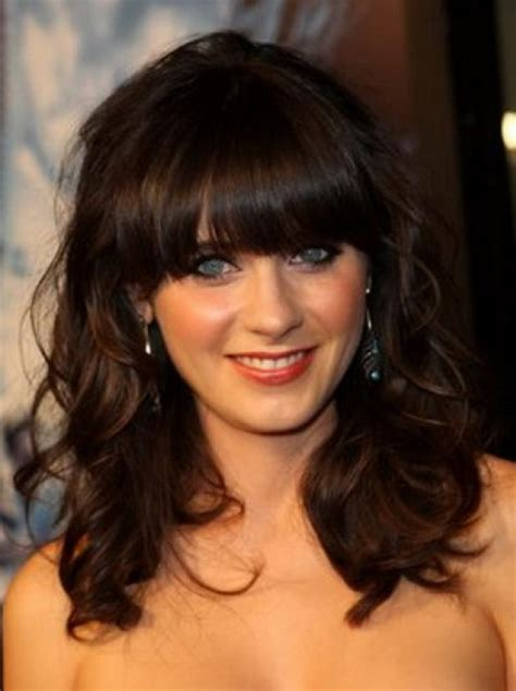 midi length with blunt fringe medium length hairstyles with fringe