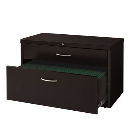 2 drawer lateral file cabinet black 2 drawer lateral credenza file cabinet in black 20504