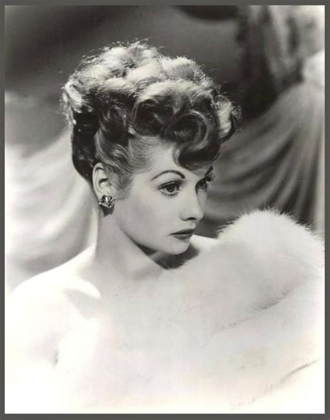 lucille ball i love lucy 1940 s lucille ball in white fur