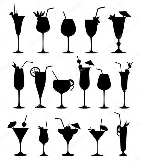 cocktail silhouette set di sagome di cocktail vettoriali stock 169 yokodesign