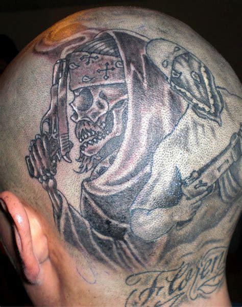 tattoo back head back head tattoos