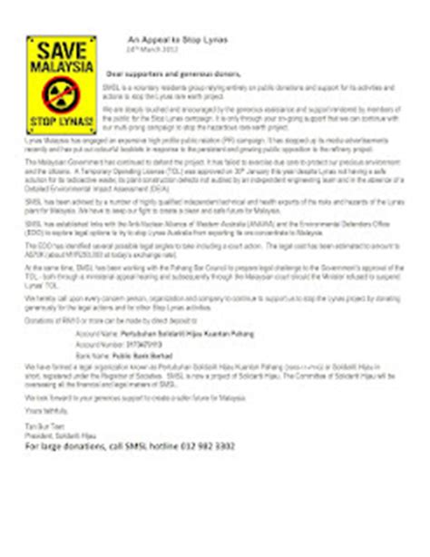 Appeal Letter Barred Message From Pertubuhan Solidariti Hijau Kuantan Pahang Donate For Your Country Tax Updates
