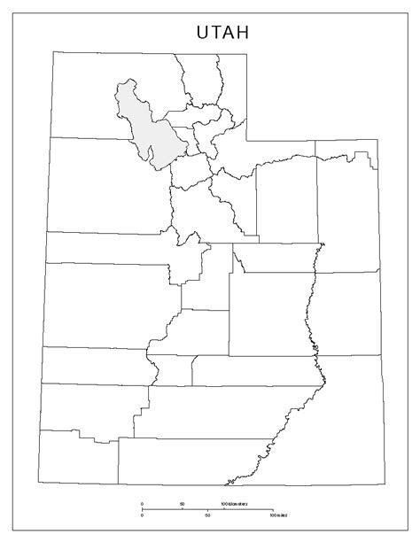utah printable map utah blank map
