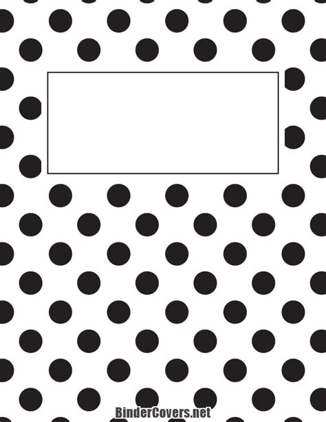 Black And White Binder Cover Templates by Printable Black And White Polka Dot Binder Cover
