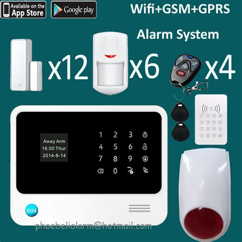wireless wifi gsm gprs home thief security system alarm
