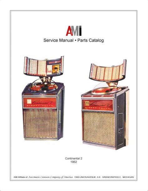 stamann musikboxen jukebox world service manual