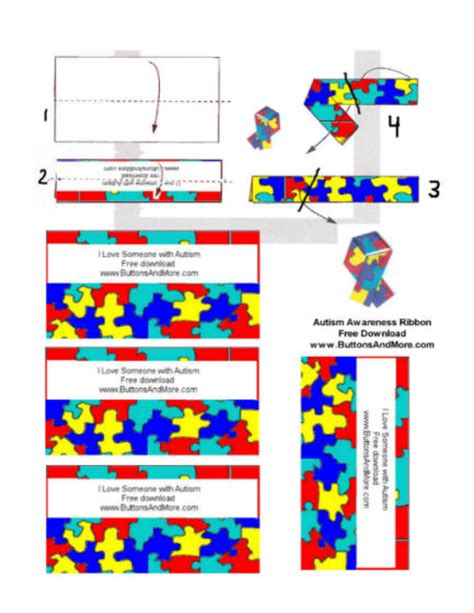 printable autism awareness bookmarks free autism awareness paper ribbon