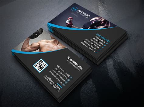 Fitness Business Card Template by Fitness Business Card Business Card Templates Creative